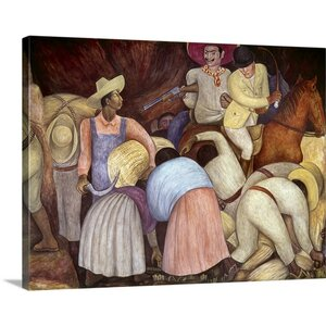 Rivera: Mural, 1920's by Diego Rivera Painting Print on Canvas by Canvas On Demand