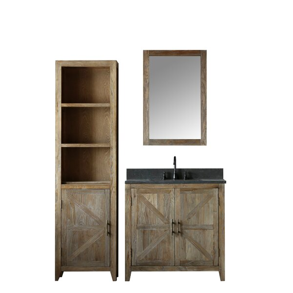 Warm Springs Solid Elm 36 Single Bathroom Vanity Set with Mirror by Laurel Foundry Modern Farmhouse
