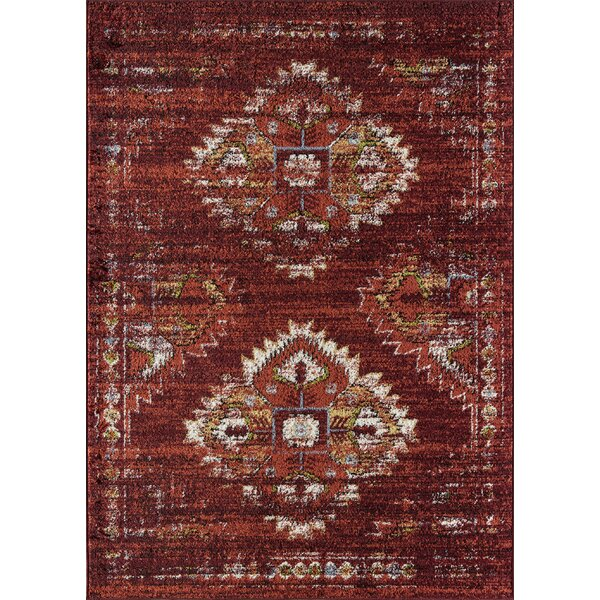 Cipolla Tribal Red Area Rug By Bungalow Rose.