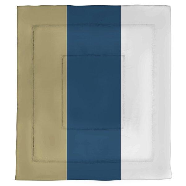 College Stripes Georgia Sting Microfiber Single Reversible Comforter