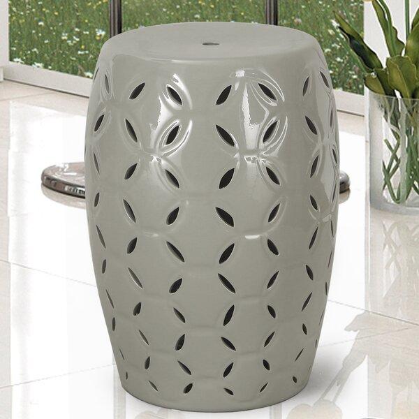 Lattice Ceramic Garden Stool by Adeco Trading