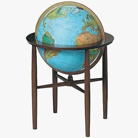 Austin Blue Illuminated World Globe by Replogle Globes