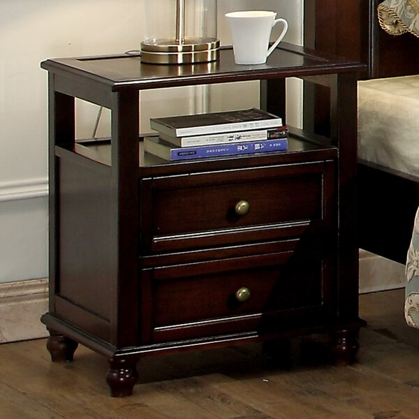 Younker 2 Drawer Nightstand by Alcott Hill