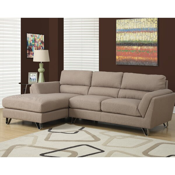 Left Hand Facing Sectional By Monarch Specialties Inc.