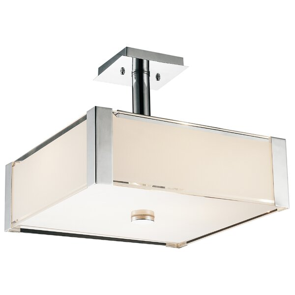 Lucie 5-Light Unique / Statement Rectangle / Square Chandelier By CWI Lighting