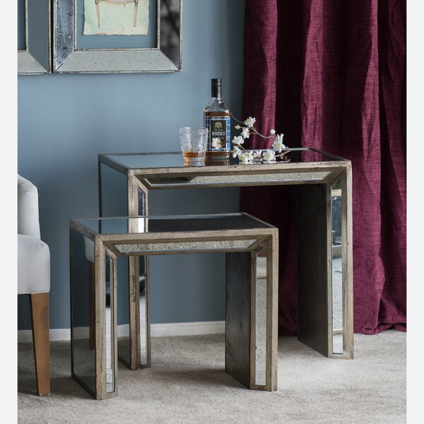 2 Piece Nesting Table by A&B Home