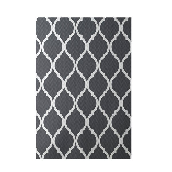 French Quarter Geometric Print Steel Indoor/Outdoor Area Rug by e by design