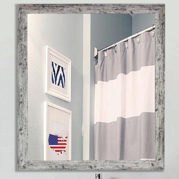 Square Weathered Farmhouse Accent Wall Mirror by August Grove