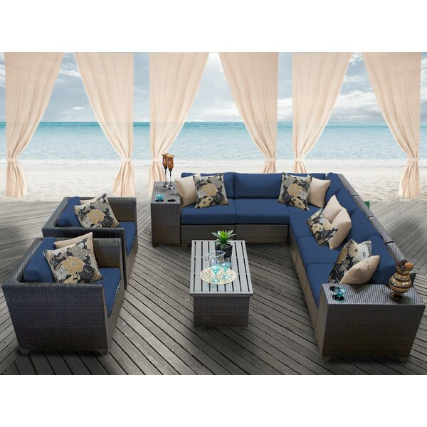 Tegan 11 Piece Rattan Sectional Seating Group with Cushions by Sol 72 Outdoor
