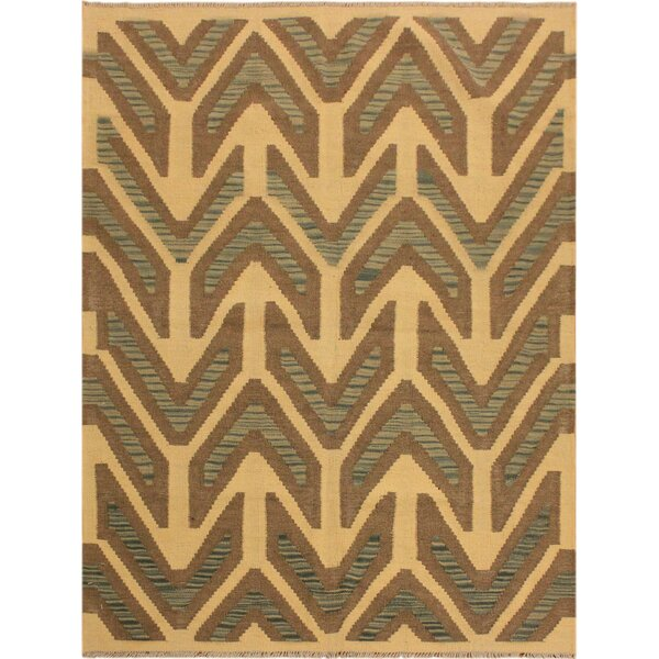 One-of-a-Kind Bakerstown Hand-Woven Ivory Area Rug by Bloomsbury Market