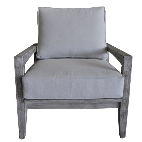 Jessica Casual Outdoor Club Chair with Cushions by Gracie Oaks