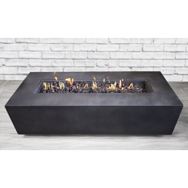 Santiago Concrete Propane/Natural Fire Pit Table by Living Source International