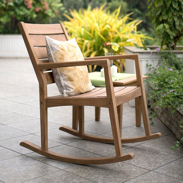 Carly Teak Rocking Chair by Loon Peak