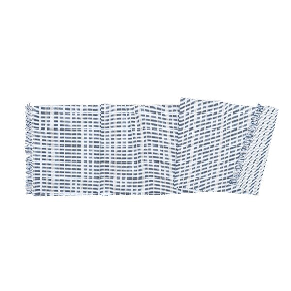 Cruce Stripe Table Runner by Breakwater Bay