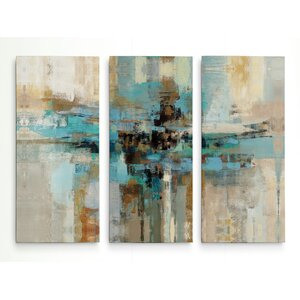 'Morning Fjord' Acrylic Painting Print Multi-Piece Image on Gallery Wrapped Canvas by George Oliver