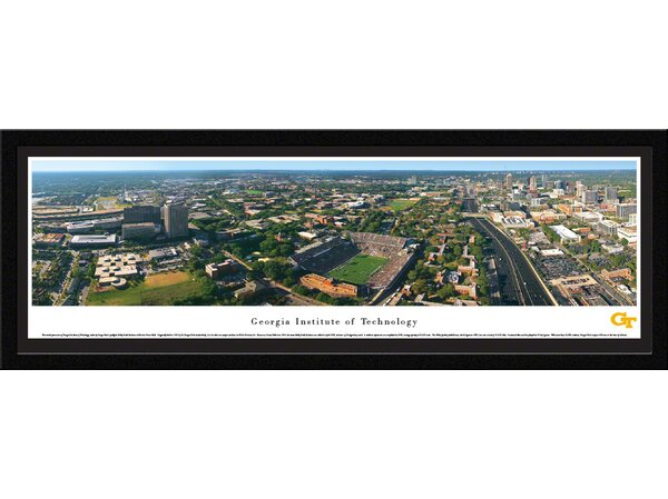 NCAA Georgia Tech by George Pearl Framed Photographic Print by Blakeway Worldwide Panoramas, Inc