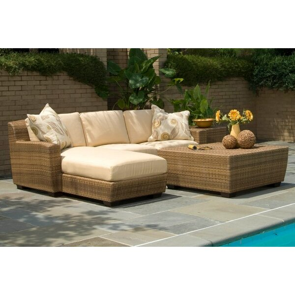 Saddleback Sectional Seating Group with Cushions by Woodard