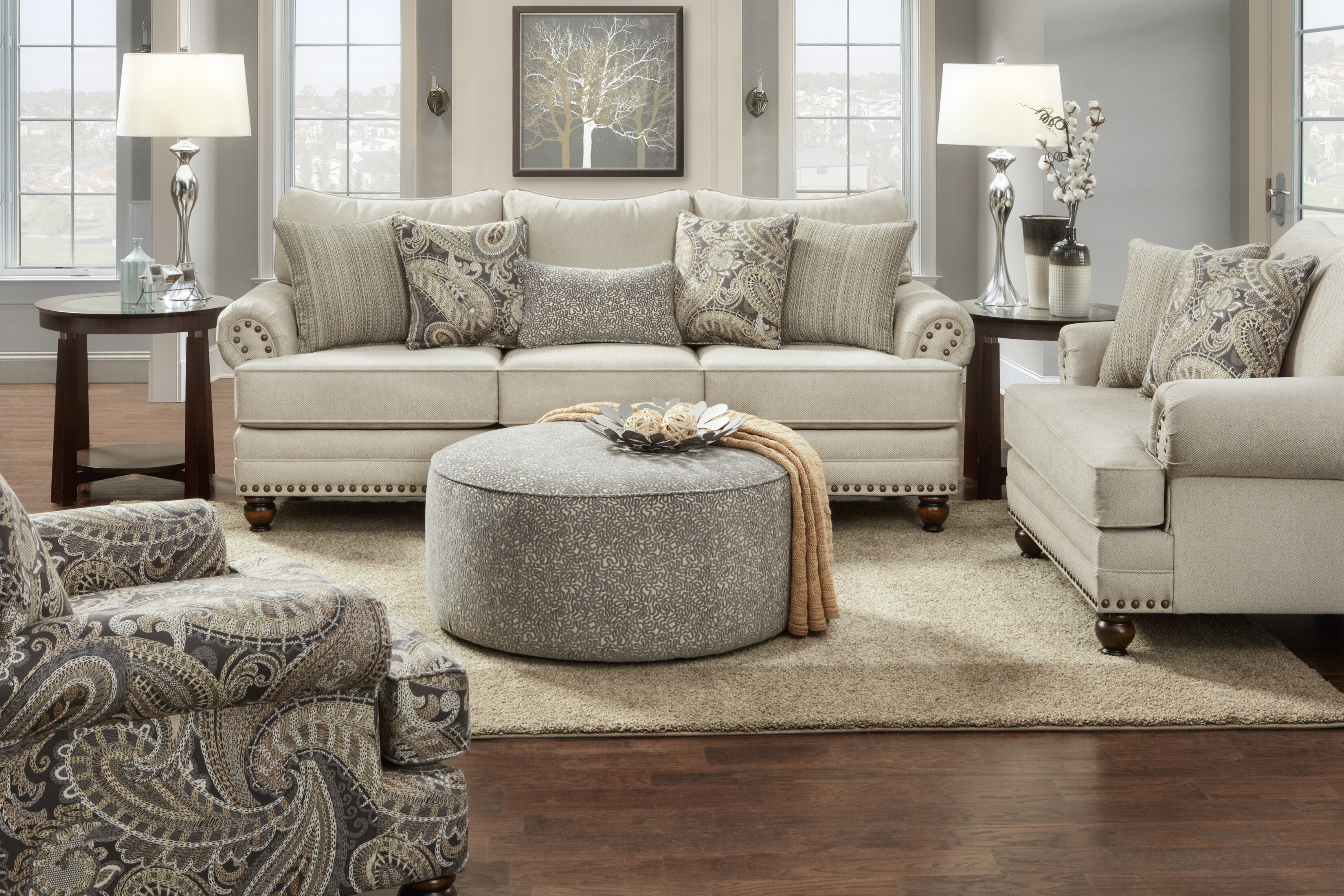 Canora Grey Brockway 4 Piece Living Room Set & Reviews | Wayfair