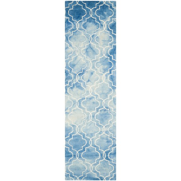 Handmade Blue/Ivory Area Rug by Bungalow Rose