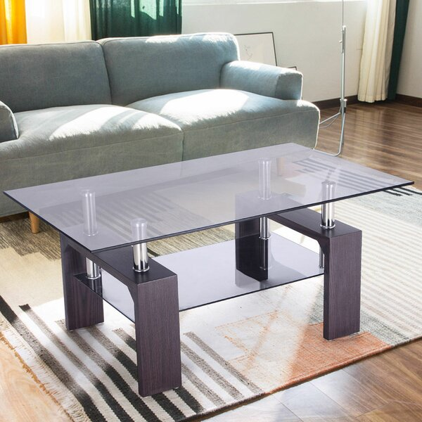 Machado Glass Coffee Table by Orren Ellis