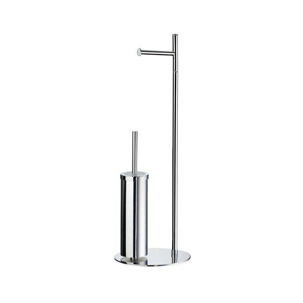 Chiodo Free Standing Toilet Roll Holder/Toilet Brush