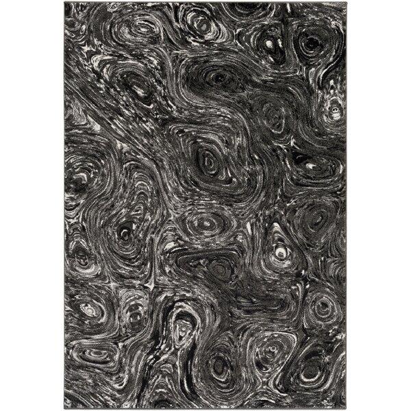 Callisto Charcoal/Gray Area Rug by Wade Logan