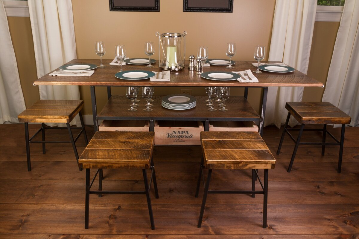 100 7pc dining room sets bradford 7 piece dining set w bard