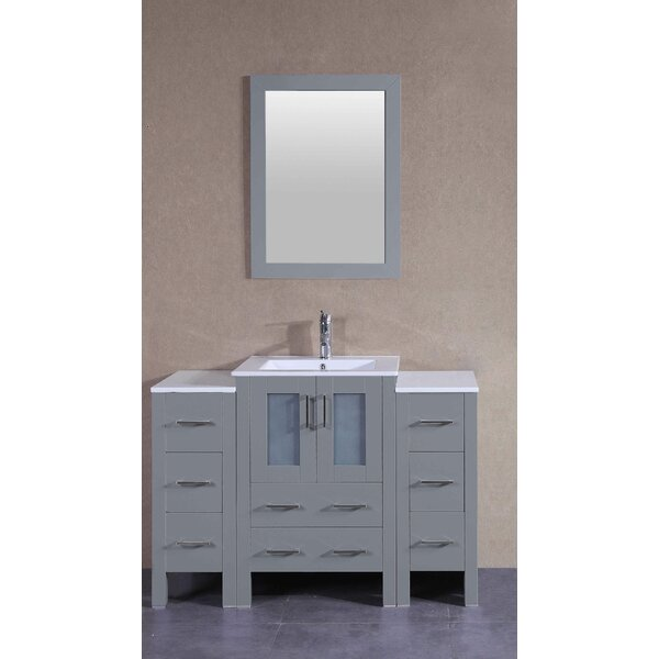 Dunham 49 Single Bathroom Vanity Set with Mirror by Bosconi