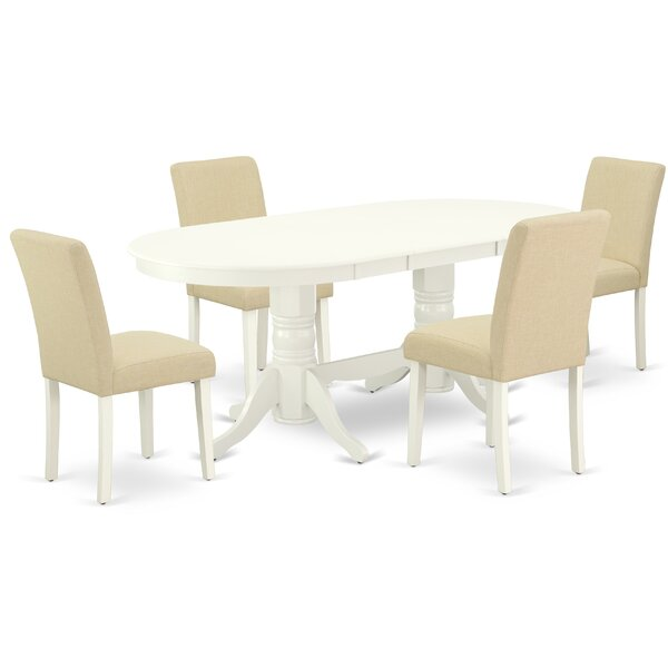 Steinsel 5 Piece Extendable Solid Wood Dining Set by Winston Porter Winston Porter