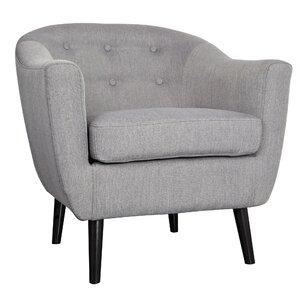 Mid Century Fabric Accent Barrel Chair by WorldWide HomeFurnishings
