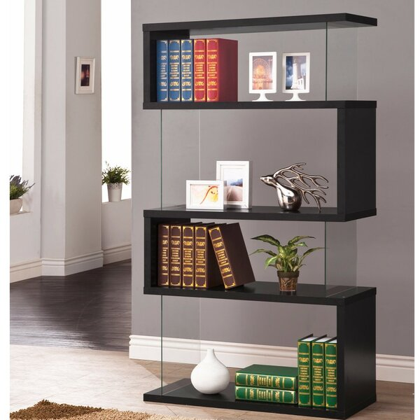 Mcateer Asymmetrical Snaking Wooden Standard Bookcase by Ivy Bronx