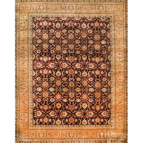 Agra Hand-Knotted Burgundy Area Rug by Pasargad