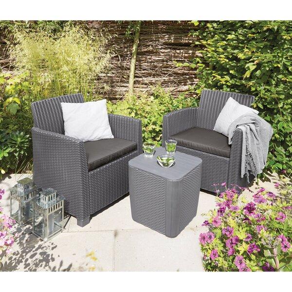 Venetta 3 Piece Conversation Set with Cushions by Longshore Tides