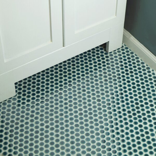 Penny 0.8 x 0.8 Porcelain Mosaic Tile in Emerald b