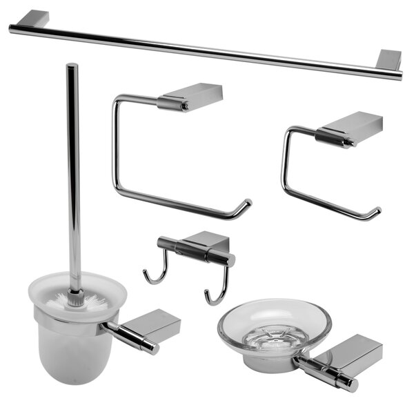 Matching 6 Piece Bathroom Accessory Set by Alfi Brand