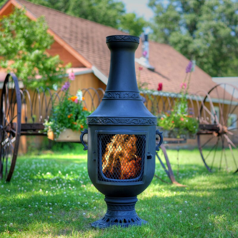 Venetian Style Aluminum Wood Burning Chiminea