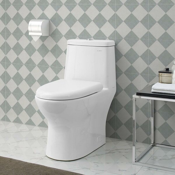 Ivy® Dual-Flush Elongated One-Piece Toilet (Seat Included) by Swiss Madison