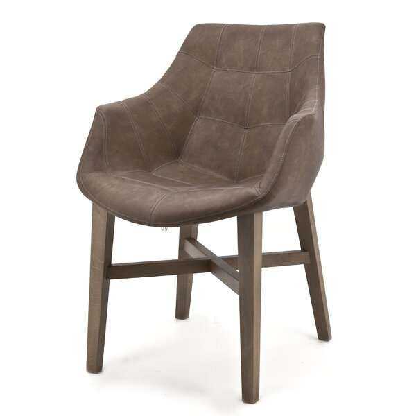 Tufted Arm Chair In Brown By Eleonora