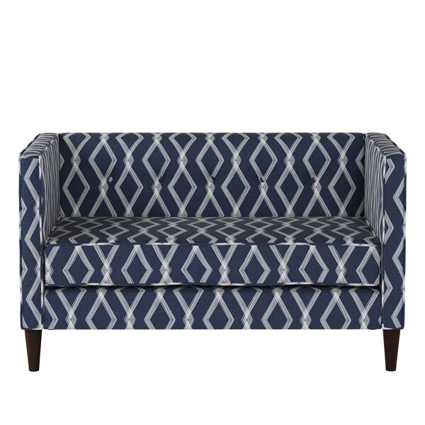 Wide Selection Edford Five Button Crossweave Loveseat by Wrought Studio by Wrought Studio