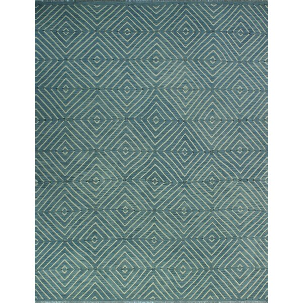 One-of-a-Kind Lavern Hand-Woven Wool Blue Area Rug by Isabelline