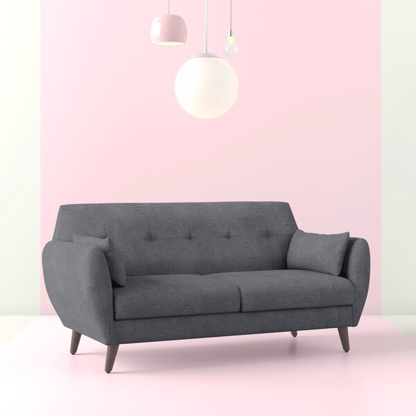 Alsacia Mid-Century Modern Loveseat by Hashtag Home
