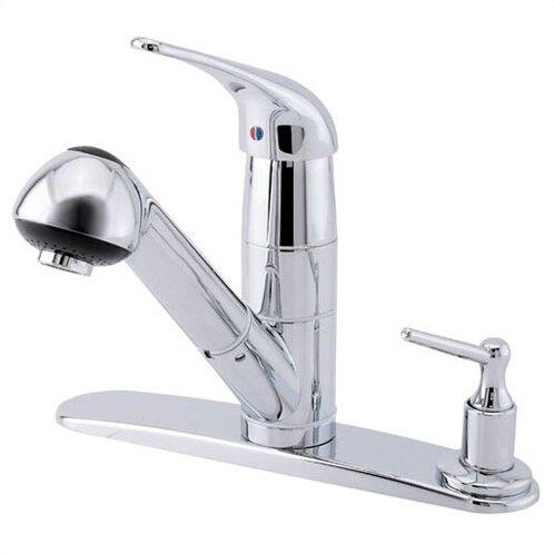 Melrose Single Handle Deck Mount Kitchen Faucet with Soap Dispenser by Danze®