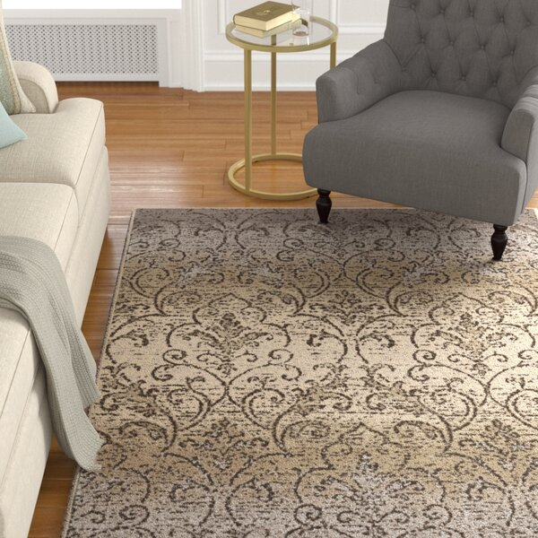 Du Bois Gray/Ivory Area Rug by Darby Home Co