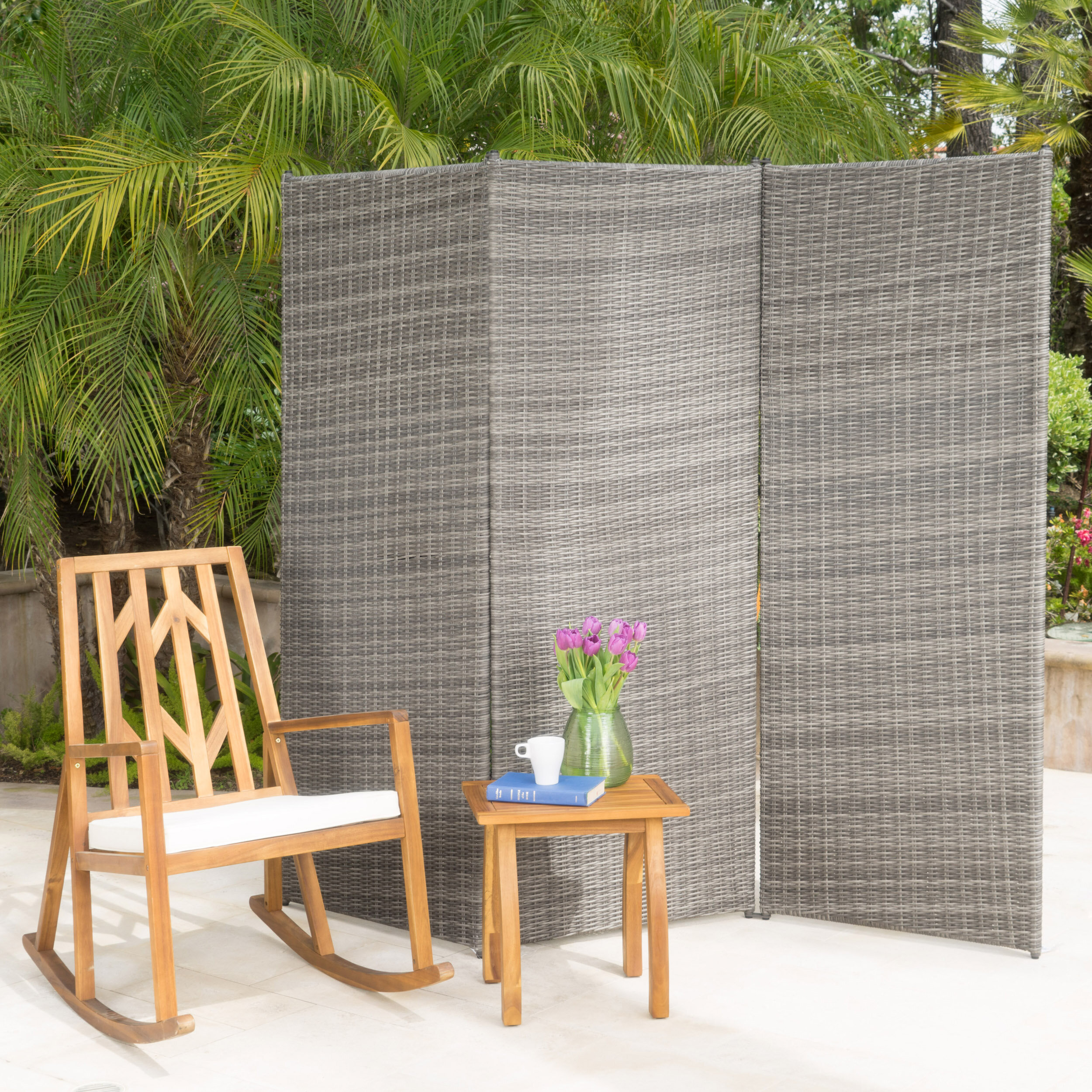 Image of: Darby Home Co Zula Indoor 3 Panel Room Divider Reviews Wayfair