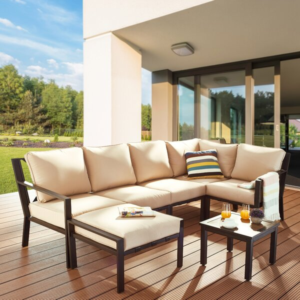 Aherne 7 Piece Sectional Seating Group with Cushions by Red Barrel Studio