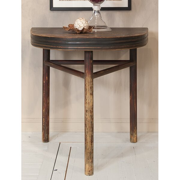Semi Circle Wall End Table by Sarreid Ltd