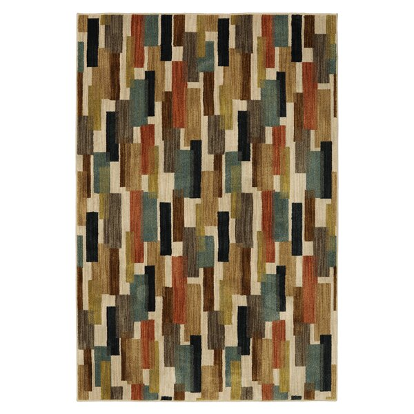 Finely Beige Area Rug by Mayberry Rug