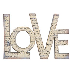 Sayings Tin Love Wall Décor by Creative Co-Op
