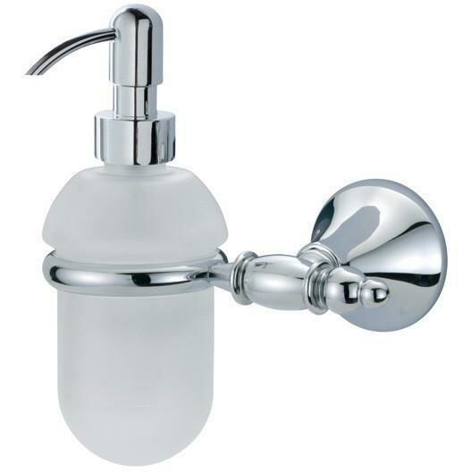 Solomon Wall Frosted Glass Soap & Lotion Dispenser by Orren Ellis