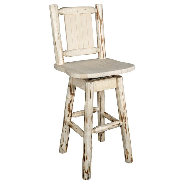 Paschal 24 Swivel Bar Stool by Loon Peak